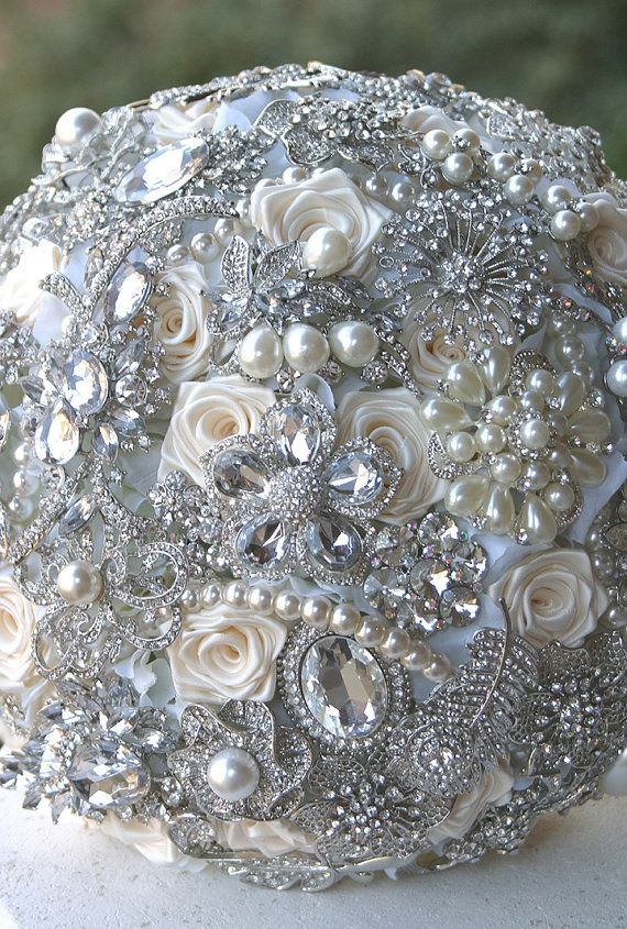 Crystal Brooch Bouquet. Deposit on made to order by annasinclair