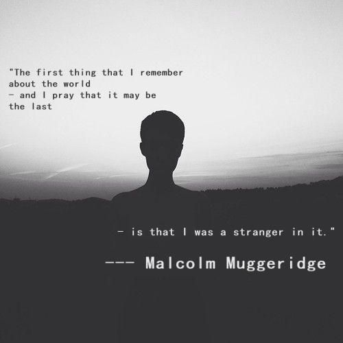 Malcolm Muggeridge quote - A stranger in this world
