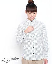 Le Melange [ル・メランジュ] 星柄 長袖 シャツ 2色