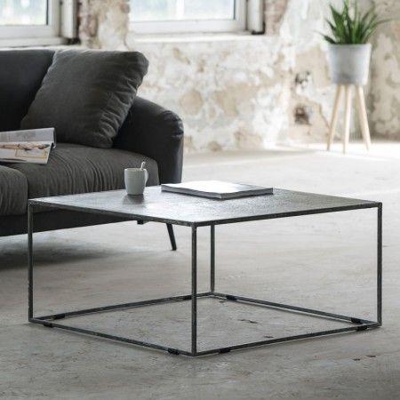 Metalen salontafel vierkant