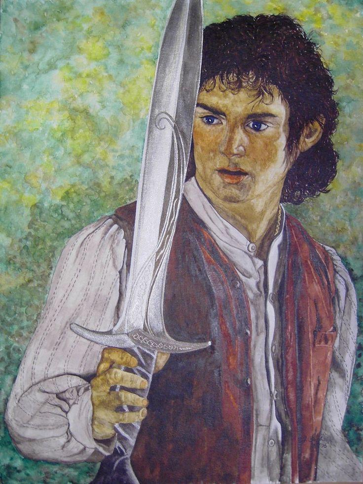 Frodo 2 gespielt von Elijah Wood in Herr der Ringe 1 - Jutta Bachmann