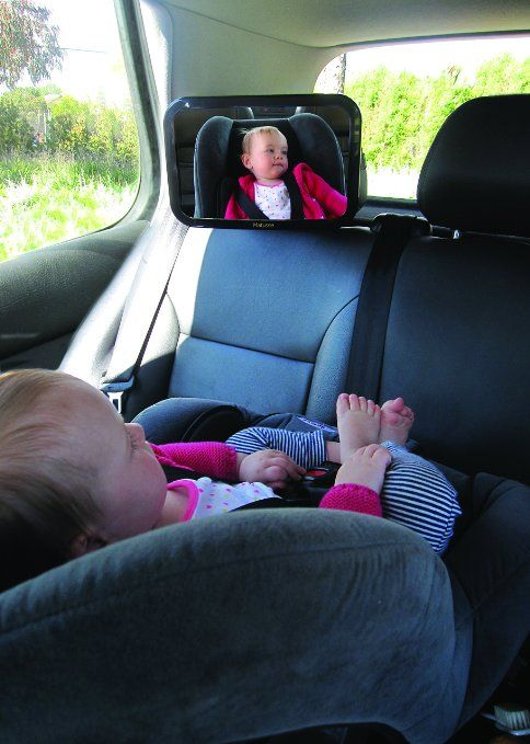 Baby Car Mirror | View Your Back Seat Rear-facing Infant | Large, Adjustable & Stable