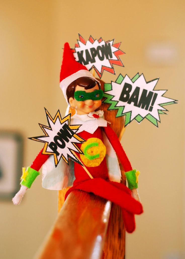 Super Hero Elf On The Shelf Elf On The Shelf Pinterest