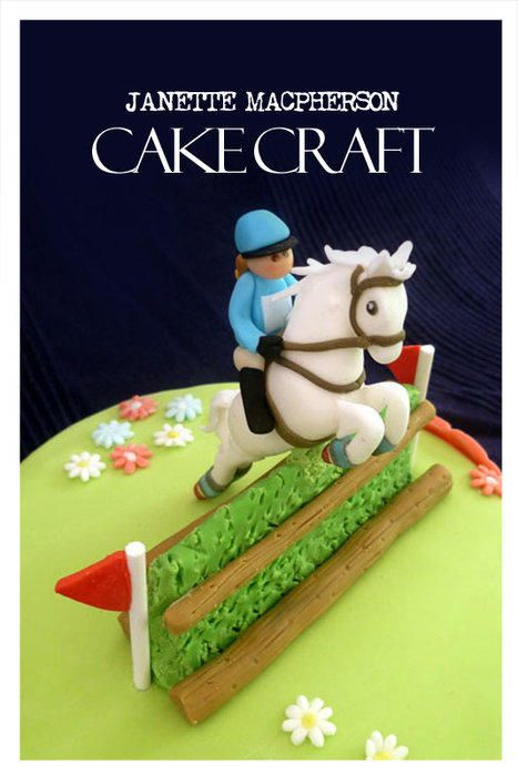 Cross Country horse jumping cake. Great for someone who competes in Cross Country Jumping! Happy Birthday