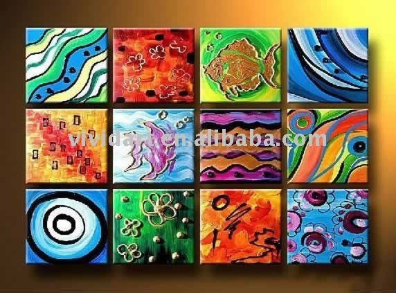 Multiple small canvases to create one big piece of artwork for Small canvas boards