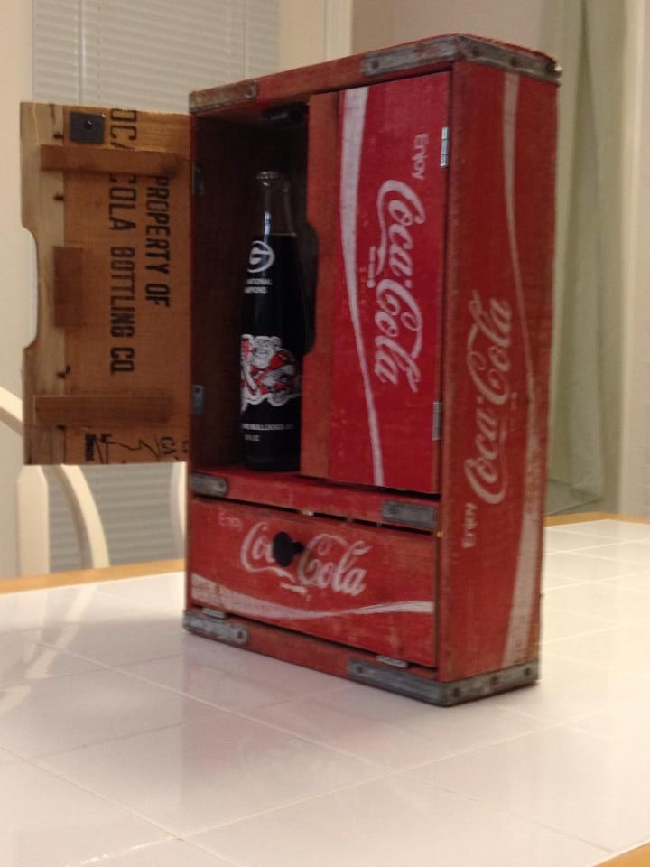 Coca Cola cabinet made from old Coke crates.