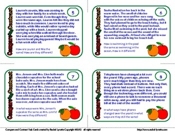 Compare and Contrast Task Cards:: Task Cards, Compare And Contrast,  Internet Site,  Website, Stories Cards, Classroom Materials, 24 Task, Classroom Ideas, 24 Shorts