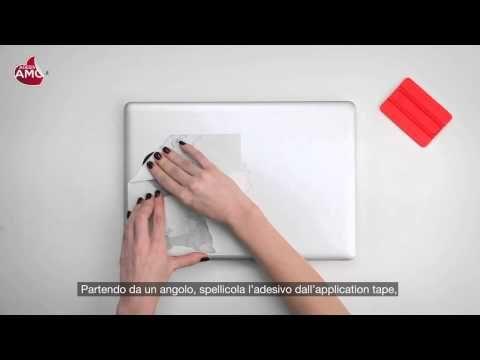 "Tutorial applicazione Macbook Sticker ""Kung Fu Panda"" - Vinyl Decal - Prodotto Adesiviamo - YouTube"