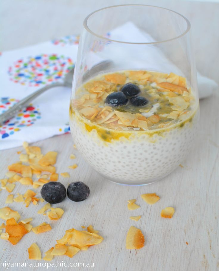 Passionfruit Coconut Chia Pudding recipe. Chia pudding is a staple in our house and this passionfruit version has been a delicious addition.