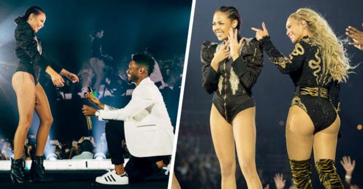 En el concierto del 10 de septiembre, Beyonce ayudó a John Silver, coreógrafo y director creativo de la gira a pedirle matrimonio a la bailarina Ashley Everett.