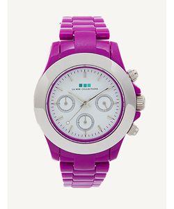 La Mer Collections Purple / Silver Bezel Carpe Diem Watch