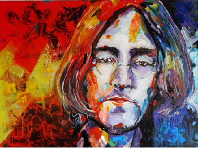 john lennon: by holger acrylic on canvas