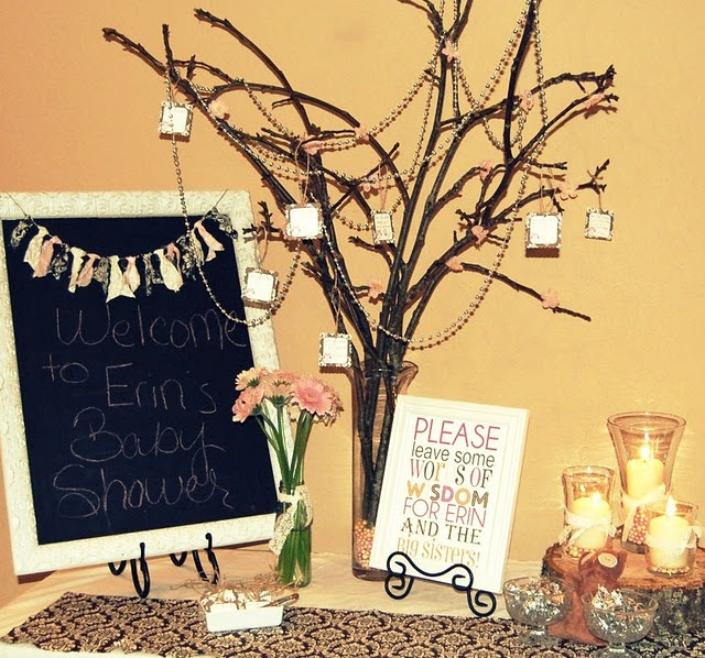 Need a chalkboard and to use trees/branches