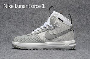 on sale 296d0 4a78b Mens Nike Lunar Force 1 Duckboot KPU White Lightning Grey 805899 207  Running Shoes