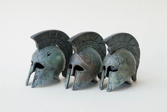 Greek Key Crest Bronze Helmet Ancient Corinthian by GreekMythos,
