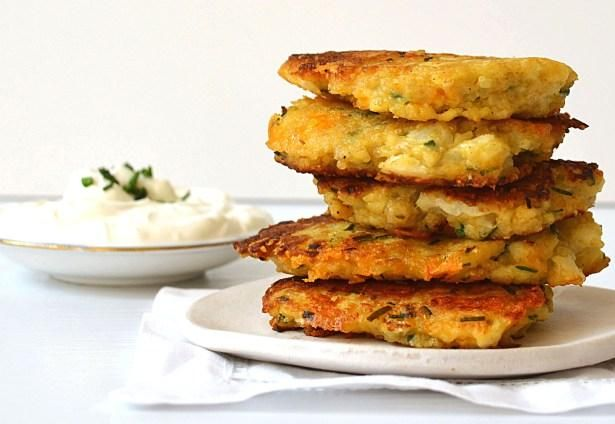 Cauliflower Cheddar Quinoa Fritters! | Healthy Eating | Pinterest