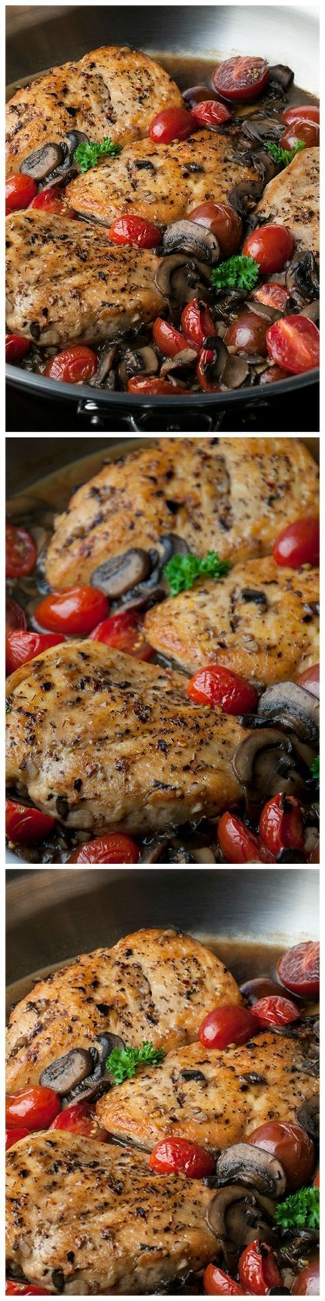 Skinny Chicken Marsala - A healthier and lighter version of chicken marsala, but every bit as tasty!