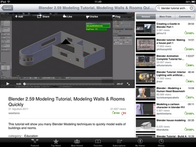 YouTube app on IPad is one of Apple most popular iPad apps.