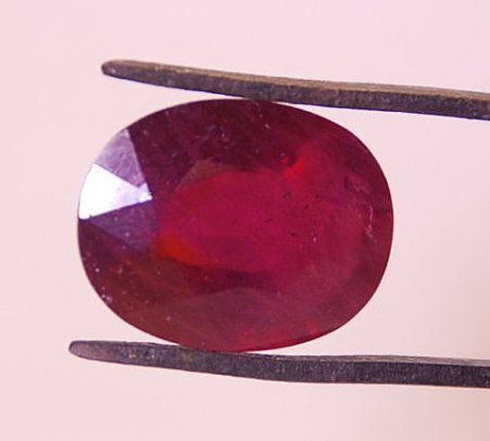 Ruby 24.5 carats Genuine Flashy Ruby Natural by TherapyStonesOne