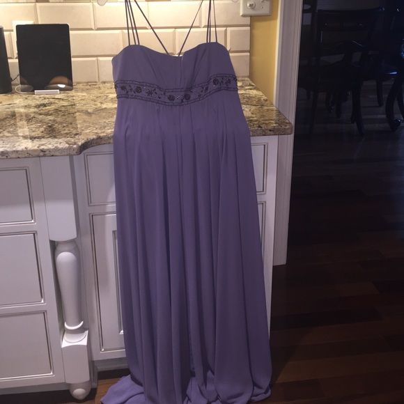 David's Bridal Wisteria Bridesmaid dress BRAND NEW Brand new never worn still has the tags on it, bought this for my dads wedding and he ended up having a very small ceremony! The dress is long and flowing and perfect for any body type!! David's Bridal Dresses Wedding