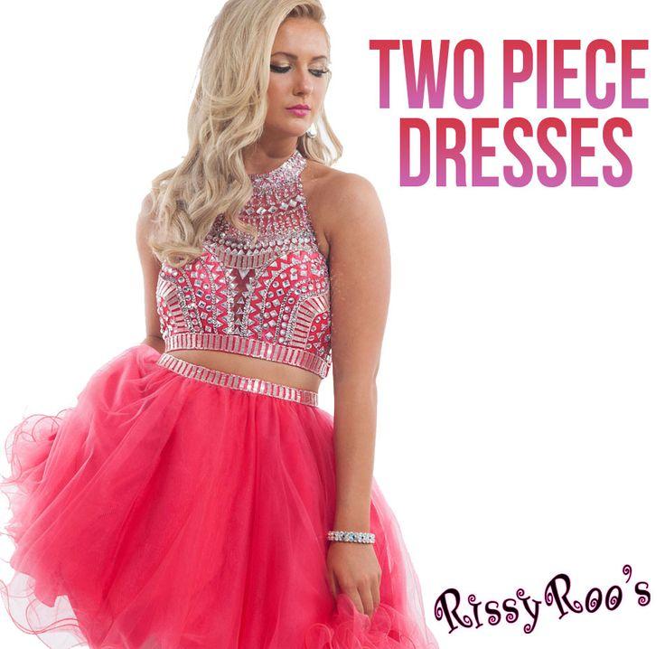 Prom dress 2 piece vinyl