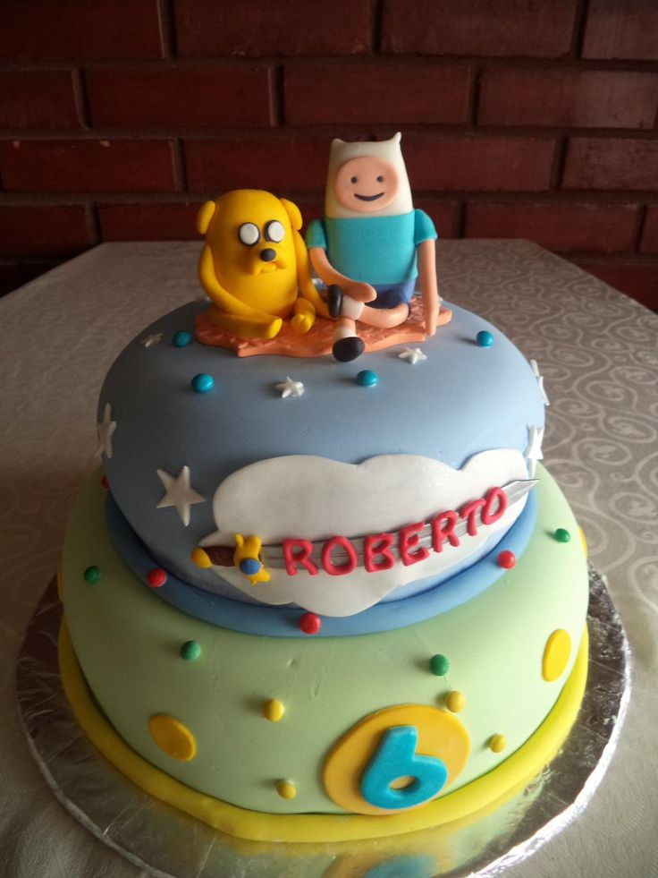 #Finn&Jake #AdventureTime #cake #HoraAventura by Volovan Productos