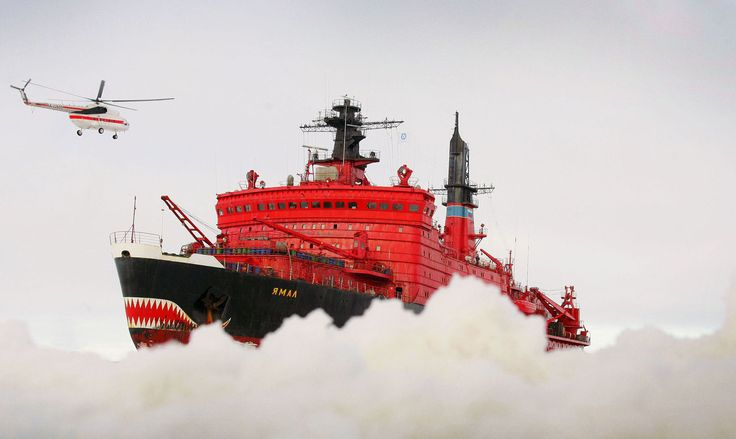 In this photo from September 2009, the Russian, nuclear-powered icebreaker Yamal heads to an ice field in the Arctic Ocean, north of Wrangel Island, where a new research station is to be established. Russia has approximately 27 heavy icebreakers.
