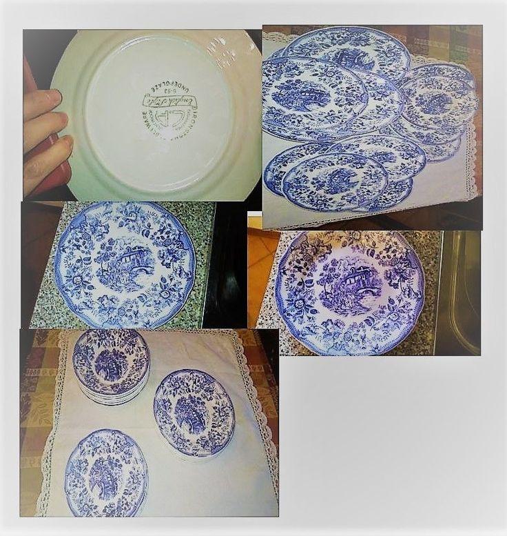 servizio piatti ceramica  ironstone vetrificata  stile disegno inglese
