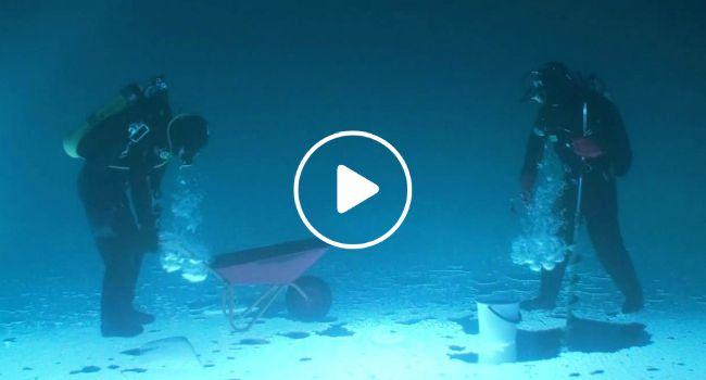 Mergulhadores Fazem Vídeo Muito Intrigante Dentro De Lago Congelado e De Cabeça Para Baixo