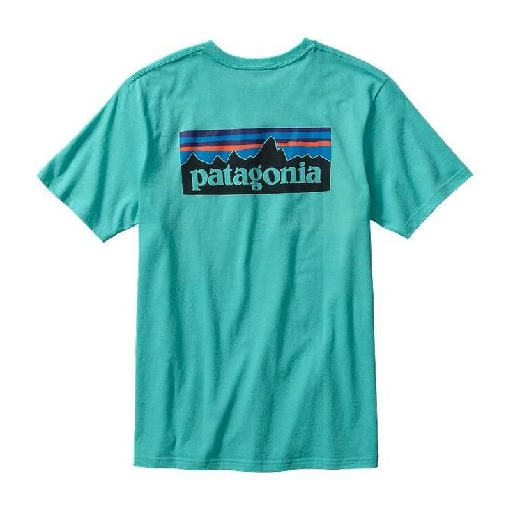 Patagonia Men's P-6 Logo Cotton T-Shirt- Howling Turquoise from Shop Southern Roots TX