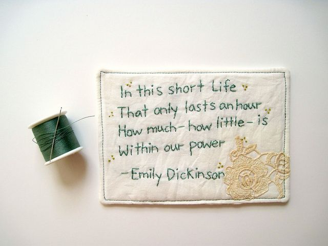 Emily Dickinson poem by cornflowerbluestudio