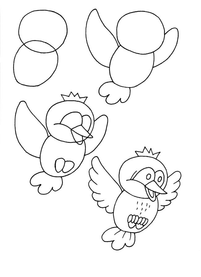How to draw a bird.