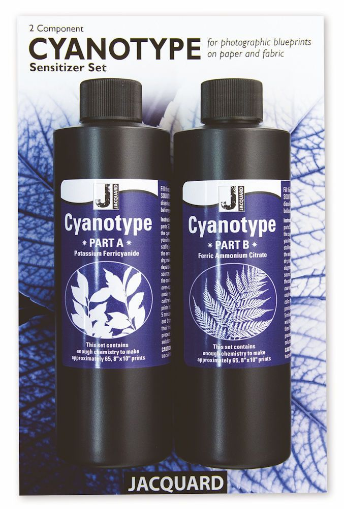 Complete chemical set to start cyanotype printing; with full instructions