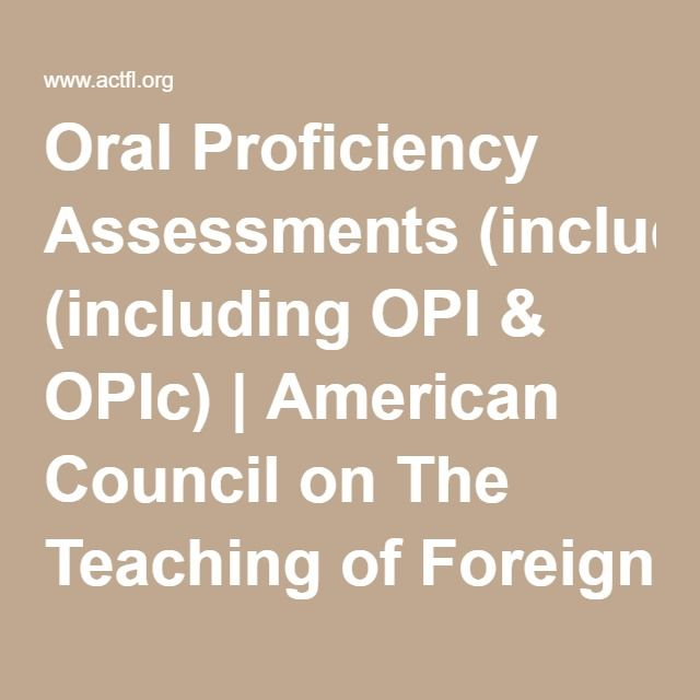 Oral Assessments 109