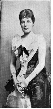 Lady Randolph Churchill. An American. Gave birth to her first child Winston Churchill in a cloakroom. She was a celebrated international beauty.