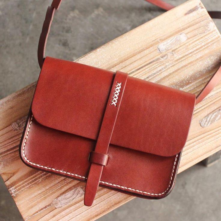 Handmade leather vintage women satchel bag shoulder bag crossbody bag | Evergiftz