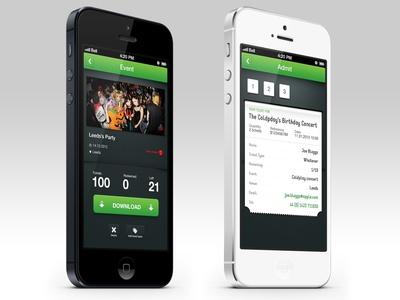 iOS App - Event's ticket