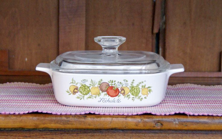 One (1) Quart ~ Corning Ware ~ Spice O' Life ~ Skillet/Saucepan/Casserole ~ A-1-B - with Pyrex Lid ~ 1970s ~ Spice of Life by JingleBeanFarm on Etsy