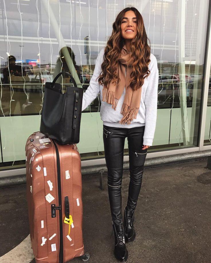 Bye Amsterdam, hello Dubaiiii. Airport FashionAirport StyleNegin MirsalehiElegance ...