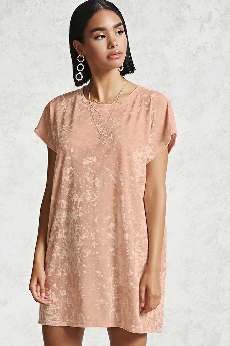 Product Name:Crushed Velvet T-Shirt Dress, Category:dress, Price:10