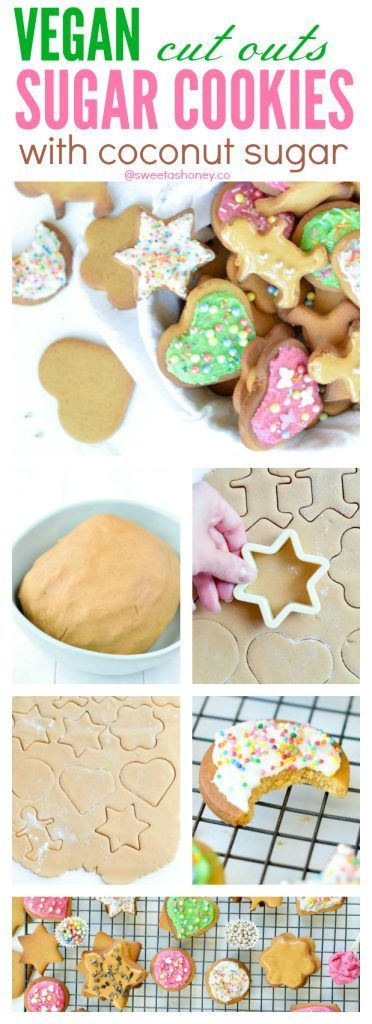 Easy Vegan Sugar Cookies recipe for Christmas. Those beautiful cut outs Christmas cookies are egg free, dairy free no chilling required.