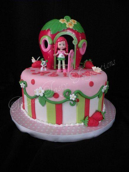 Strawberry Shortcake Cake- ADORABLE!!                              …                                                                                                                                                                                 More