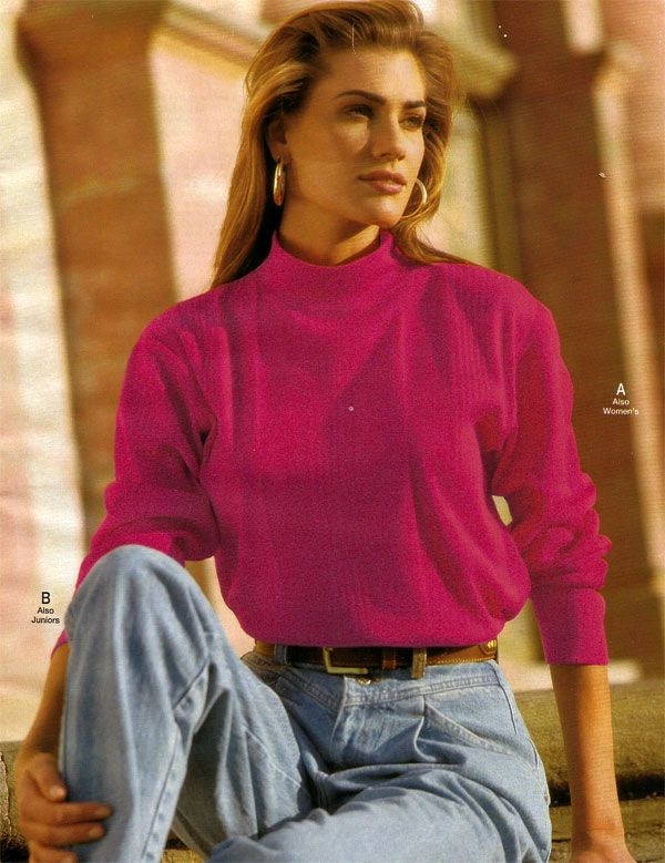 pleated jeans from a 1993 catalog vintage fashion 1990s