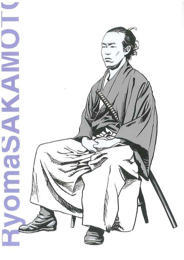 江口寿史の描いた坂本龍馬のイラスト。