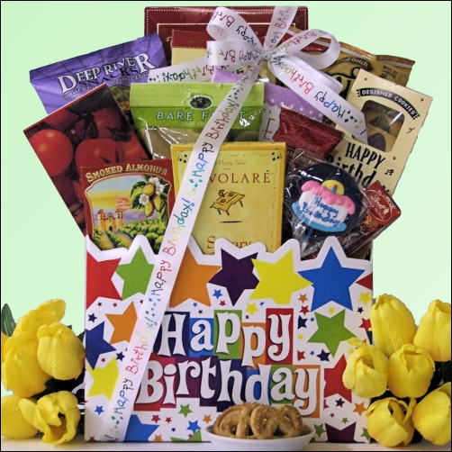 Birthday Gift Baskets Send Birthday Wishes With Gift: Happy Birthday Sweets & Treats Birthday Gift Basket This