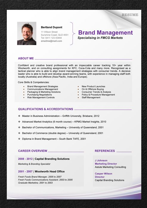 free chronological resume template microsoft word professional templates