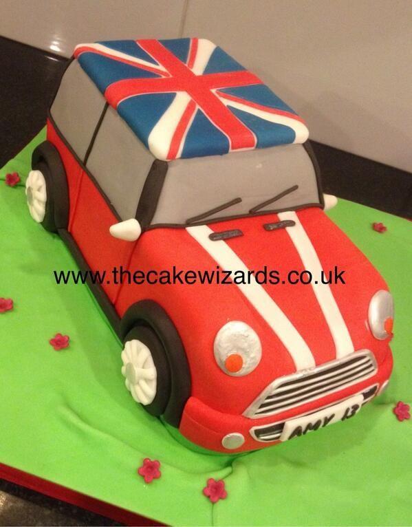 The Cake Wizards @kellyemmaellis   Mini Cooper cake