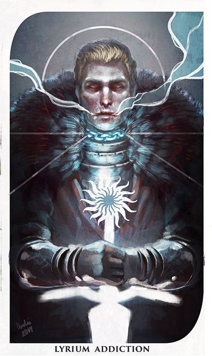 Amazing Dragon Age Inquisition fan art. Cullen tarot card gives me the feels. I love you Cully-Wully