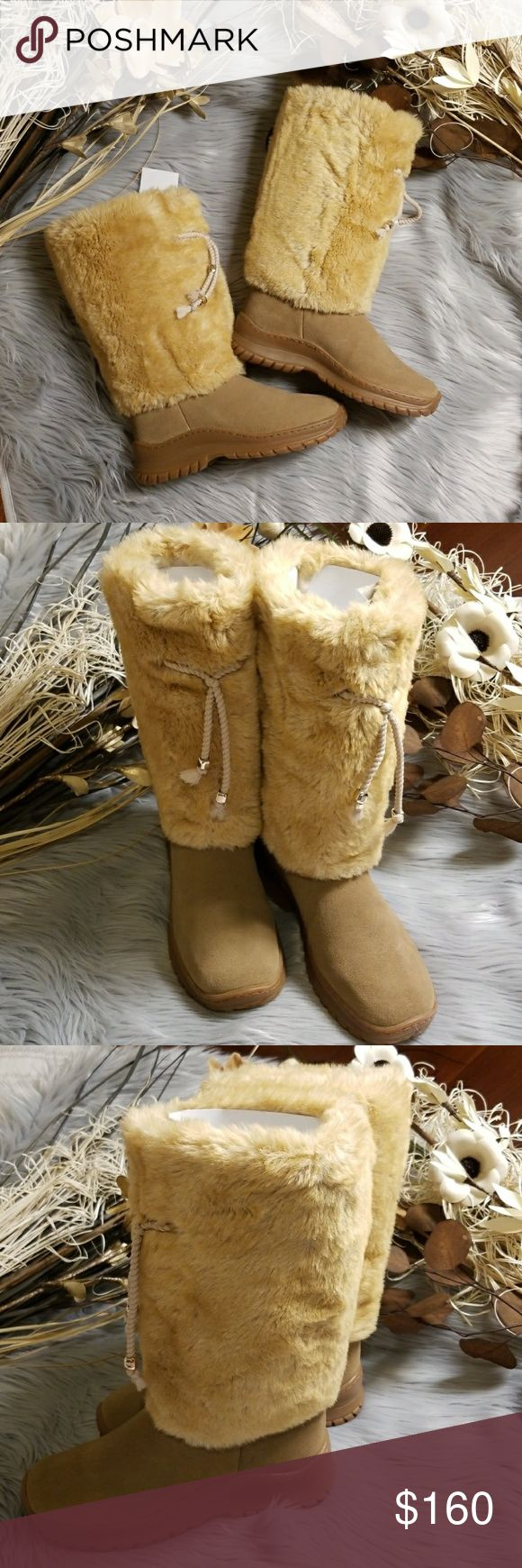 Oscar Sport Perla Faux Fur Boots Brand new never worn Color: Beige  Size 37  Made in Italy   MQ0000212185900 Oscar Sport Shoes Winter & Rain Boots