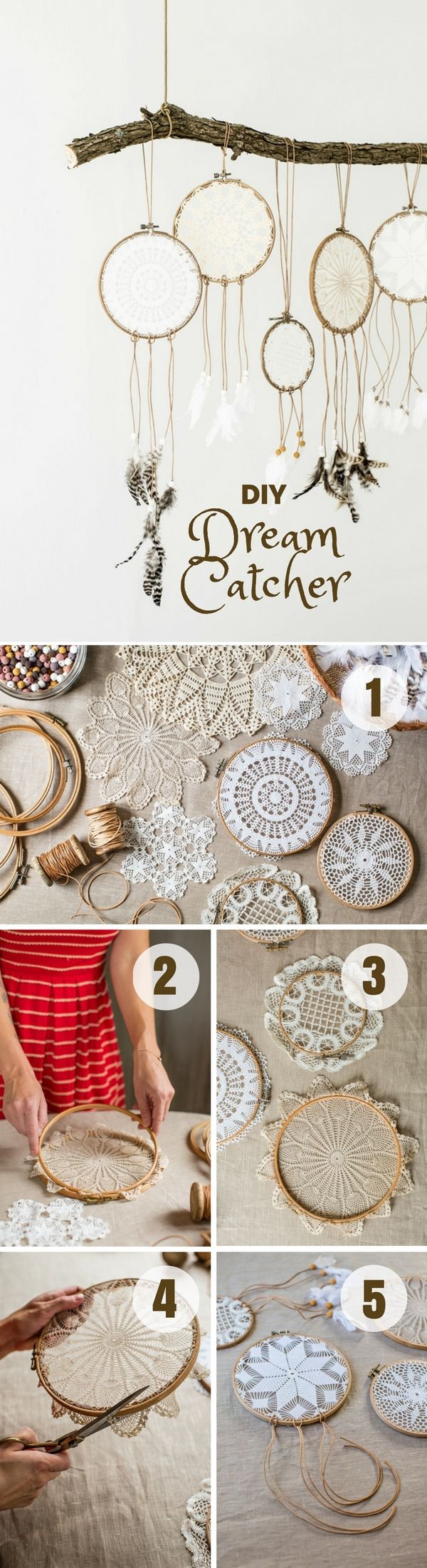 Check out how to easily make this DIY Dream Catcher @istandarddesign                                                                                                                                                                                 More